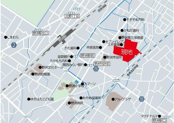 【橋本不動産】野洲市 小篠原中央団地 ◆販売7戸◆ 【一戸建て】 現地案内図