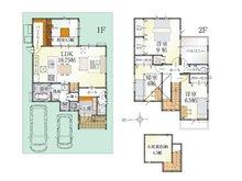 (8号地)、価格3213万9000円、4LDK、土地面積124.35㎡、建物面積111.38㎡