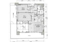 サンフローラ板宿 3LDK、価格1590万円、専有面積74.59㎡、バルコニー面積26.4㎡