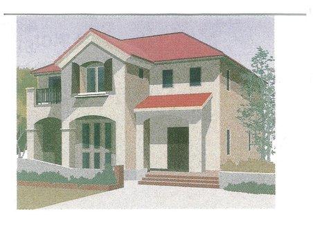 建物プラン例、土地価格700万円、土地面積415㎡、建物価格2200万円、建物面積132.25㎡推奨プランB:プロバンス様式