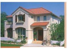 建物プラン例、土地価格700万円、土地面積415㎡、建物価格2200万円、建物面積132.25㎡推奨プラン1:「プロバンス様式」