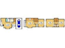 舟田町(大和田駅) 1650万円 1650万円、4LDK、土地面積46.03㎡、建物面積119.03㎡各居室が6帖以上のゆったりとした4LDKの間取りです♪