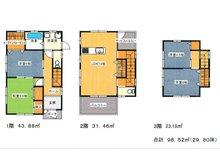 上高丸3(山陽垂水駅) 1080万円 建物プラン例建物価格2880万円、建物面積98.52㎡
