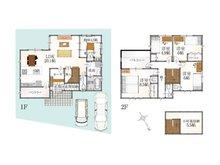 (34号地)、価格2968万3000円、5LDK、土地面積141.96㎡、建物面積124.2㎡