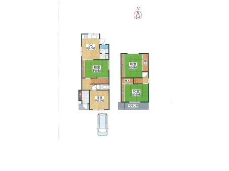 990万円、4DK、土地面積80.22㎡、建物面積70.15㎡間取りは4DK+車庫2台