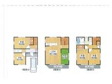 池之宮2(星ケ丘駅) 400万円 土地価格400万円、土地面積60.03㎡間取り:推奨プラン(3階にUBのある家)