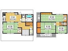 沖町(大和田駅) 730万円 730万円、4DK、土地面積47.92㎡、建物面積61.12㎡各居室が独立した4DKのテラスハウスです♪