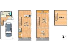 野江1(JR野江駅) 3280万円 3280万円、2LDK、土地面積48.69㎡、建物面積100.14㎡ビルドインガレージ付♪洋室は9帖と7.5帖!屋根裏収納がございます!