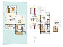 (Ⅱ期 25号地)、価格3298万円、4LDK、土地面積157.09㎡、建物面積119.25㎡