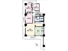 エリオ西神南2号棟 4LDK、価格2750万円、専有面積96.84㎡、バルコニー面積36.66㎡