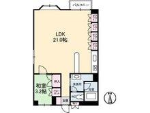 サニーコート高松 1LDK、価格450万円、専有面積58.75㎡、バルコニー面積4.4㎡