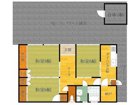 588万円、3K、土地面積113.85㎡、建物面積62.8㎡