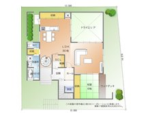 建物プラン例 1F間取り (建物価格2700万面積180.74m2)