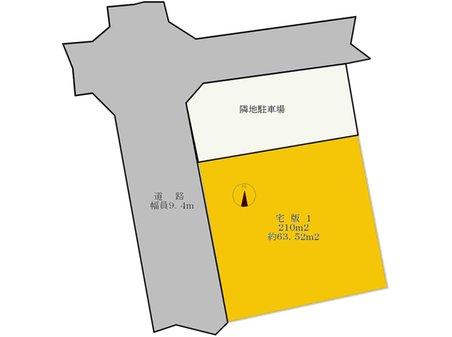 土地価格390万円、土地面積210㎡