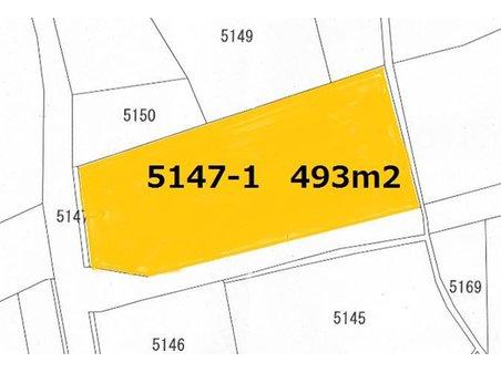 土地価格500万円、土地面積493.63㎡