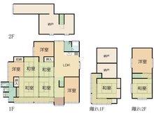 栗柄町 1180万円 1180万円、7LDK+2S(納戸)、土地面積433.71㎡、建物面積128.09㎡