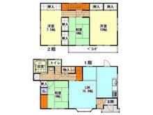 西宇部北4(宇部駅) 1480万円 1480万円、4LDK、土地面積191.07㎡、建物面積113.43㎡