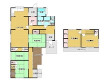 大字郡 780万円 780万円、5LDK+S(納戸)、土地面積245.3㎡、建物面積128.86㎡お部屋数が多く、2世帯の方にもおすすめですね!