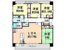 クレアセトル草津 4LDK、価格3090万円、専有面積86.32㎡、バルコニー面積21.01㎡