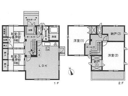 牛田新町1(牛田駅) 5980万円 5980万円、4LDK+S(納戸)、土地面積347㎡、建物面積134.57㎡