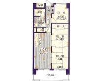和布刈スカイマンション 3LDK、価格390万円、専有面積53.49㎡、バルコニー面積8.96㎡