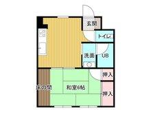 別府駅前ダイカンプラザ 売マンション 1DK、価格650万円、専有面積30.96㎡、バルコニー面積6㎡