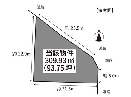 喜入一倉町 315万円 土地価格315万円、土地面積309.93㎡