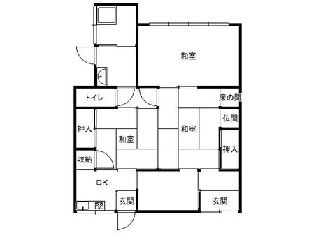 180万円、3DK、土地面積95.72㎡、建物面積93.07㎡
