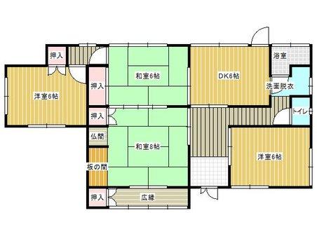 谷町2(出光美術館駅) 250万円 250万円、4DK、土地面積209.73㎡、建物面積84.92㎡