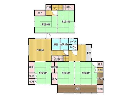 大字感田(感田駅) 500万円 500万円、5DK、土地面積145.45㎡、建物面積124.13㎡