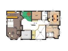【セルコホーム】姶良平松 クイーンアン・スタイル モデルハウス 【一戸建て】 5751万円、4LDK+S(納戸)、土地面積387.09㎡、建物面積179.91㎡2階間取図
