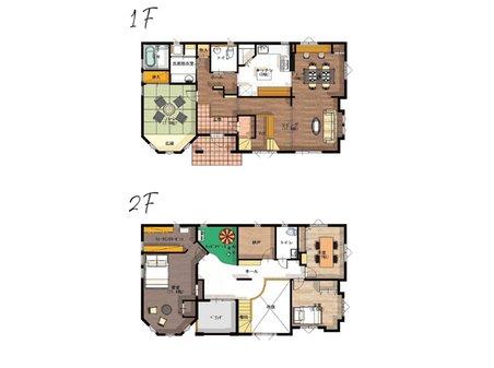 【セルコホーム】姶良平松 クイーンアン・スタイル 【一戸建て】 姶良市平松に完成したクイーンアン・スタイルの本格的輸入住宅「セルコホーム」。