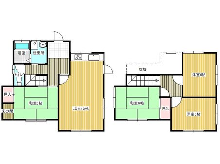 大字感田(遠賀野駅) 1570万円 1570万円、4LDK、土地面積205.45㎡、建物面積97㎡