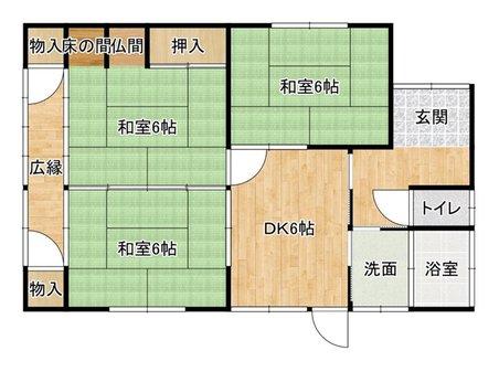 大里東3(小森江駅) 500万円 500万円、3DK、土地面積207.41㎡、建物面積61.45㎡