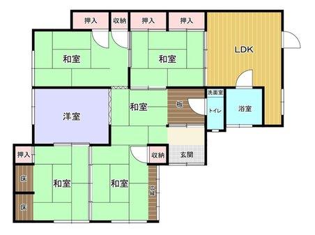 田野浦3 250万円 250万円、5DK、土地面積156.6㎡、建物面積24.29㎡