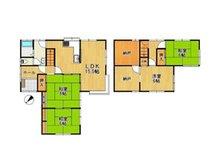 下高場(山隈駅) 1099万円 1099万円、4LDK、土地面積186.61㎡、建物面積110.54㎡